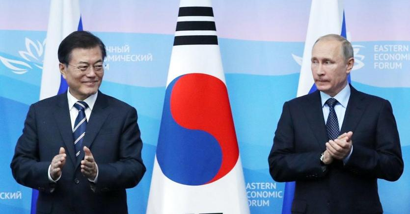 Putin nel vertice di oggi con l'omologo sudcoreano Moon Jae-in